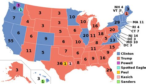 us map by electoral vote 2016 united states presidential election