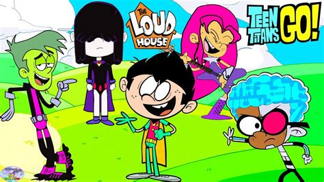 teen titans house teen titans go color swap transforms raven the loud house surprise egg and toy