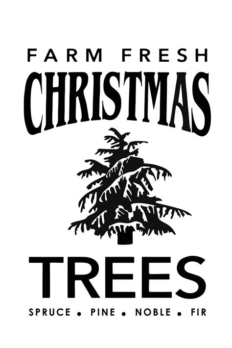 christmas tree farm sign 11 quot x 17 quot