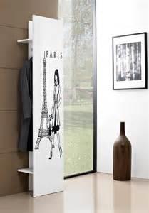 Beau Meuble Entree Porte Manteau #2: portemanteau_design_blanc-s_rigraphie_noire_stylus_ii.jpg