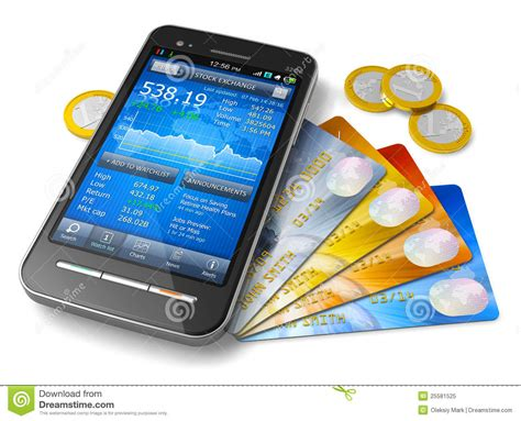 mobil stock mobile banking and finance concept royalty free stock