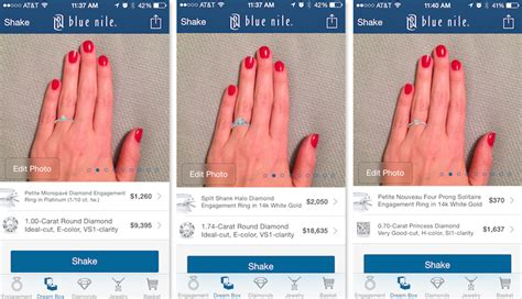 this new app feature lets you virtually try engagement rings on your actual hand