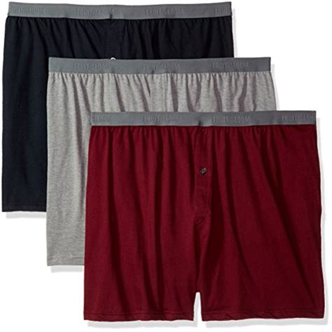 fruit of the loom knit boxers fruit of the loom s 3 pack premium big knit boxer