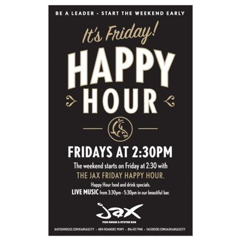 fish house happy hour friday early happy hour at jax fish house in kansas city mo dec 2 2016 2 30 pm