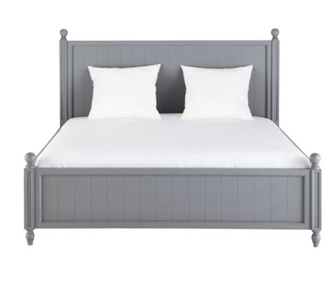 graues holzbett newport grey wood bed from maisons du monde budget beds