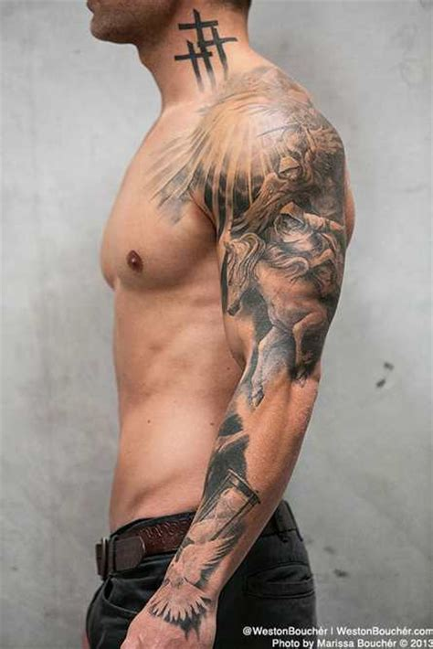 cool sleeve and shoulder tattoo tattoo shortlist