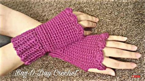 pattern gloves youtube crochet how to crochet fingerless gloves wristers