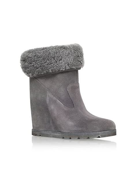 ugg boots wedge heel ugg kyra wedge heel boots with fur cuff house of fraser