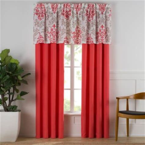coral curtain panel buy coral curtain panels from bed bath beyond