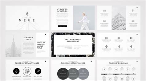 Search Designs by Neue Minimalist Powerpoint Template