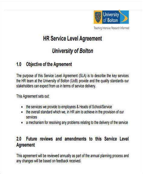 hr agreements 7 hr agreement sles templates pdf doc