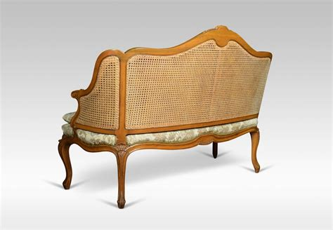antique settee prices louis xv style double caned bergere settee antiques atlas