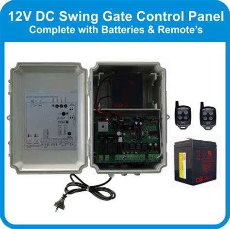 dc swing 12v dc swing gate control panel ready to plug in with