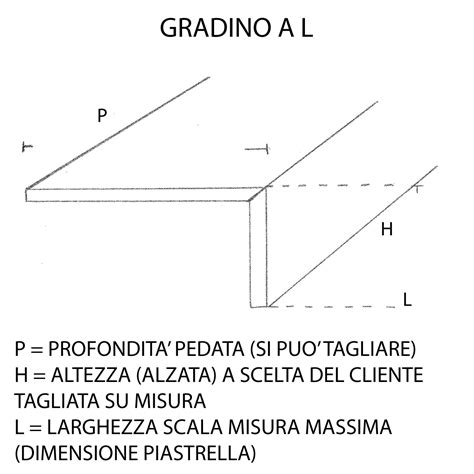scale interne misure gradone a l in gres porcellanato per scale interne su