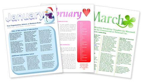 monthly newsletter templates free index of images