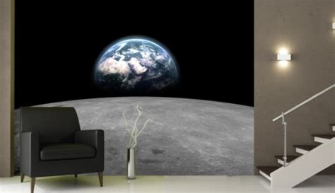 space wallpaper for rooms celebrate moon landing with interiors inspired by the cosmos