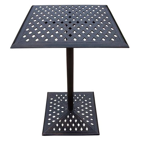 square metal bar height outdoor dining table hd bt