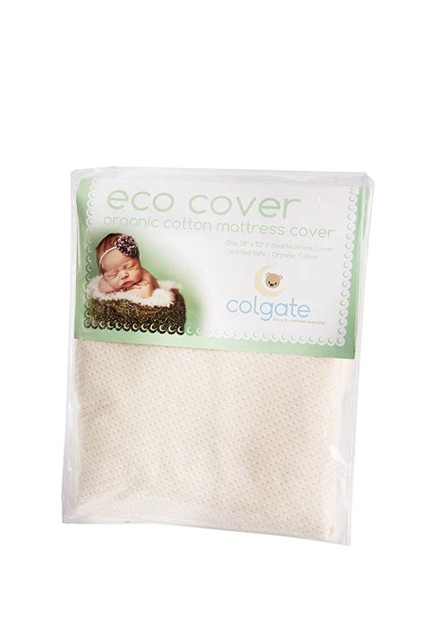 Organic Waterproof Crib Mattress Cover Colgate Organic Cotton Fitted Crib Mattress Cover With Waterproof Backing Ideal Baby