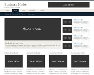 business model free psd website template psd templates