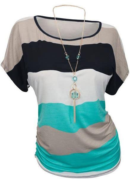 Atasan Blouse Chic Plus Necklace Y color block plus size casual blouse without necklace chicgrace