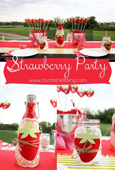 themed birthdays ideas strawberry themed birthday party