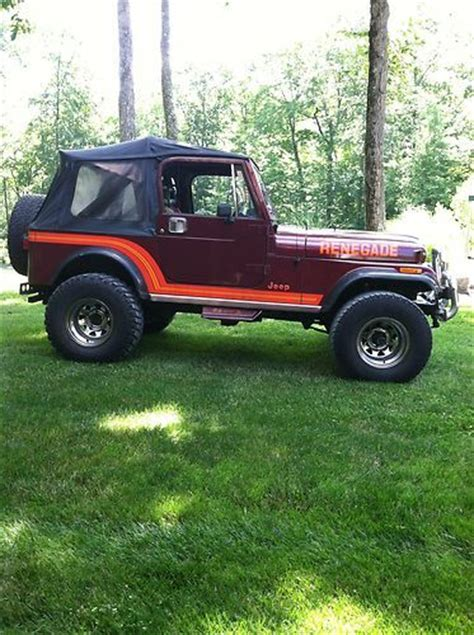 1986 Jeep Renegade For Sale Find Used 1986 Jeep Cj7 Renegade Sport Utility 2 Door 4 2l