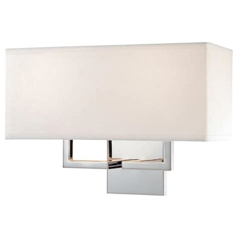 Chrome Wall Sconce Eurofase Zuma Collection 2 Light Chrome Wall Sconce 23271 012 The Home Depot