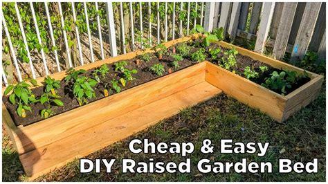 diy garden easy cheap diy raised garden bed