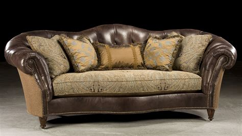sofas leather and fabric sleek tufted leather fabric sofa