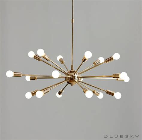 atomic 18 lights arms sputnik starburst light fixture