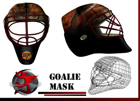 goalie mask painting template 3d hockey goalie mask by scottfourre on deviantart