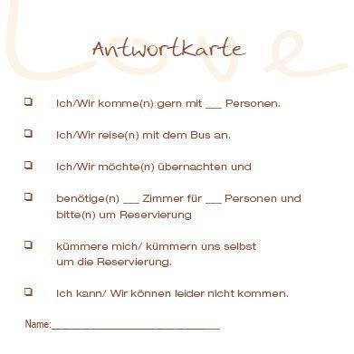 Hochzeitseinladung Antwortkarte by Antwortkarten Vintage Muster Baum Mit Liebesherz