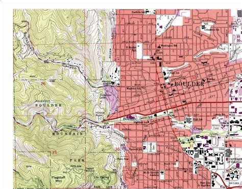 map of of colorado boulder maps and map types