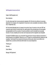 Faculty Resignation Letter by 17 Resignation Email Exles Sles
