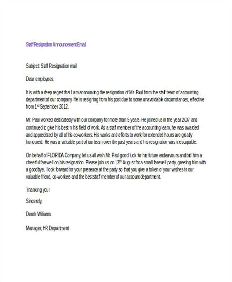 Letter To Customers Announcing Resignation by Resignation Announcement To Clients Sle Letter Docoments Ojazlink