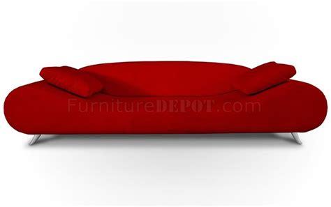 Red Fabric Modern Sofa Lounge