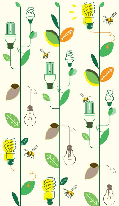 pattern of energy flow in the environment energy saving caign illustration by eleftheria alexandri