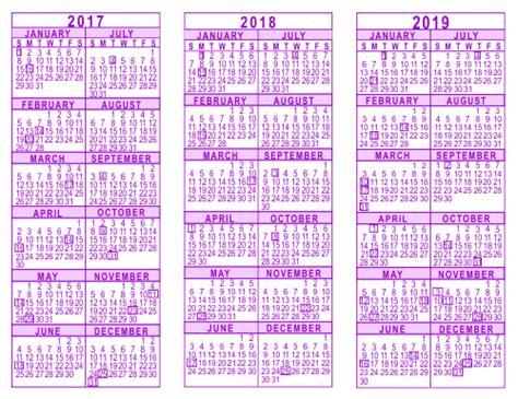 Calendario Judaico 2018 Printable Calendars 2016 To 2019 Calendar Template 2016