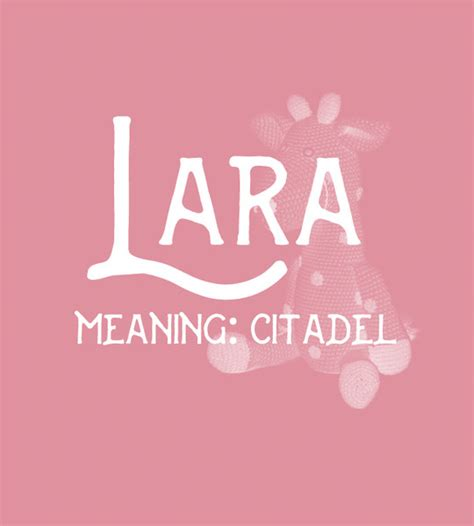 Alra Sweet lara sweet and strong baby names for livingly