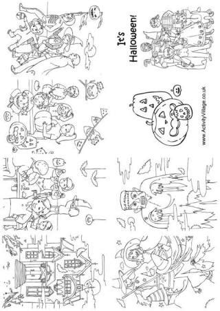 halloween coloring pages activity village what s new