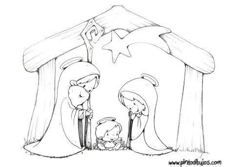 imagenes de navidad para colorear tiernas dibujos infantiles del portal de bel 233 n para pintar