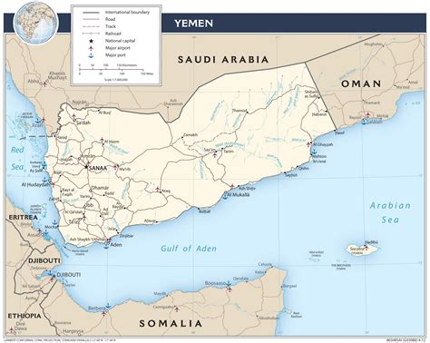 printable map of yemen yemen central intelligence agency