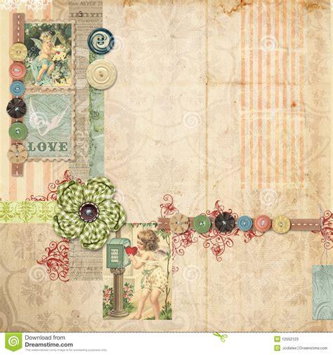 layout para blog gratis vintage pink scrapbook layout with vintage embellishments stock
