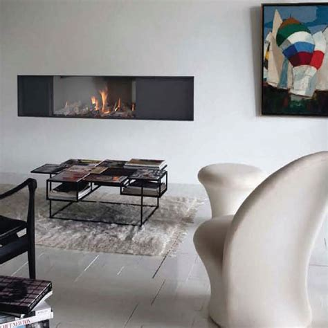 lineafire fireplaces horizontal 100 tunnel wood and gas