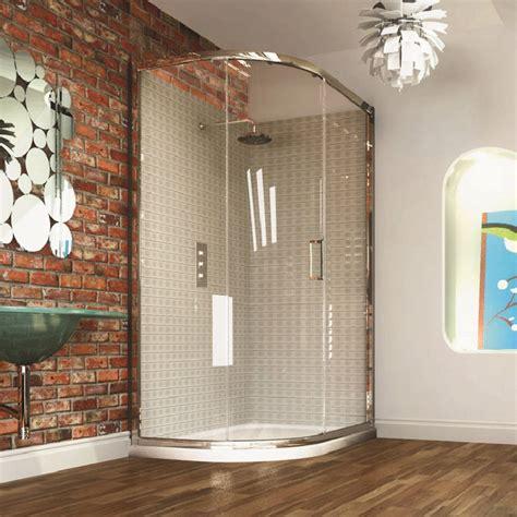 Corner Bath With Shower Screen merlyn series 8 single door offset quadrant shower