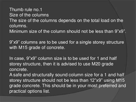 home design rules of thumb house design rules of thumb placing column layout