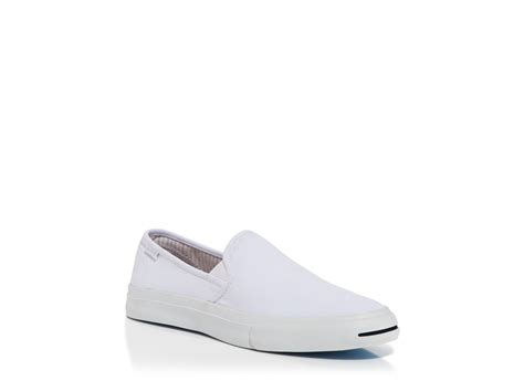 purcell slip on sneaker converse purcell slip on sneakers in white for lyst