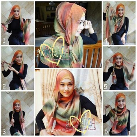 tutorial hijab pashmina dian pelangi pinterest the world s catalog of ideas