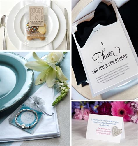 wedding favors donation to charity charity wedding favours