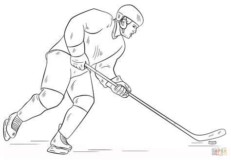 hockey player coloring pages
